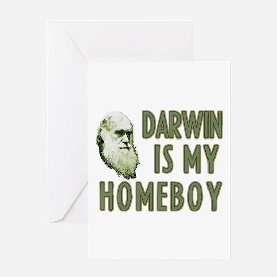 Darwin is my Homeboy Greeting Card