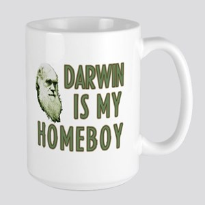 Darwin is my Homeboy Large Mug