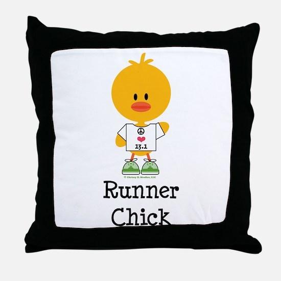 Runner Chick 13.1 Throw Pillow