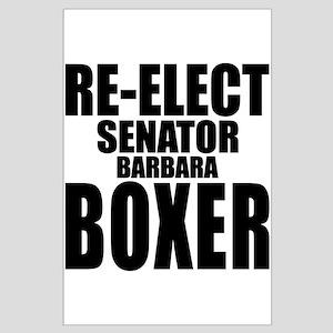 Re-Elect Sen. Boxer Large Poster
