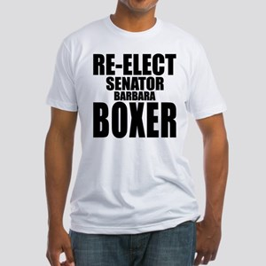Re-Elect Sen. Boxer Fitted T-Shirt