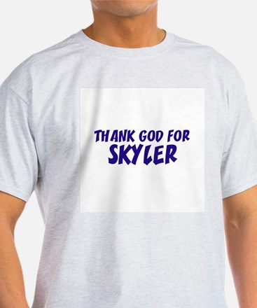 Thank God For Skyler Ash Grey T-Shirt