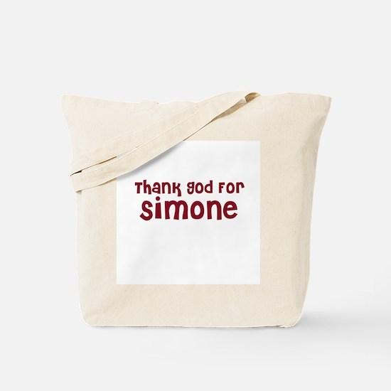 Thank God For Simone Tote Bag