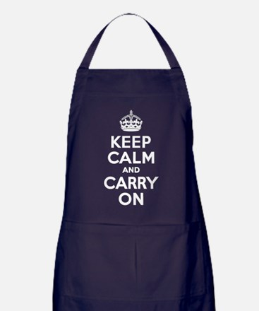 Keep Calm & Carry On Apron (dark)