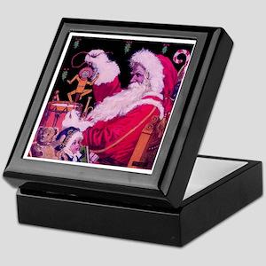 Santa with Toys Keepsake Box
