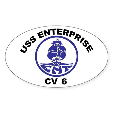 USS Enterprise CV-6 Sticker (Oval)