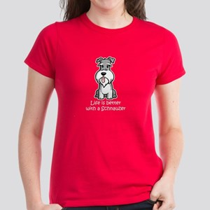 Better with a Schnauzer Women's Dark T-Shirt