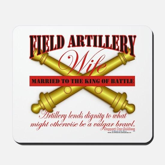 Army Field Artillery Wife FA Mousepad