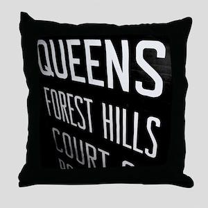 Queens Forest Hills Throw Pillow