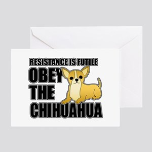 Obey The Chihuahua Greeting Card