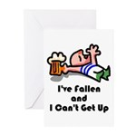 I've Fallen & I Can't Get Up Greeting Cards (Pk of