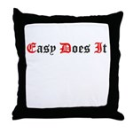 Easy Does It (Old Style) Throw Pillow