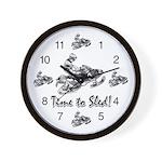 Snowmobile Clocks Wall Clock