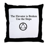 The Elevator is Broken Use th Throw Pillow