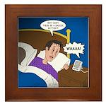 baby snooze Framed Tile