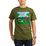 Outhouse or Phone Boo Organic Men's T-Shirt (dark)