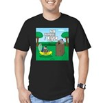 Outhouse or Phone Boot Men's Fitted T-Shirt (dark)
