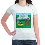 Outhouse or Phone Booth Jr. Ringer T-Shirt