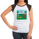 Outhouse or Phone Boot Junior's Cap Sleeve T-Shirt