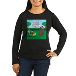 Outhouse or Phone Women's Long Sleeve Dark T-Shirt