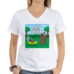 Outhouse or Phone Booth Women's V-Neck T-Shirt