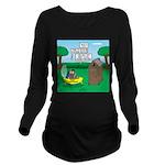 Outhouse or Phone Bo Long Sleeve Maternity T-Shirt