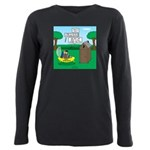 Outhouse or Phone Booth Plus Size Long Sleeve Tee