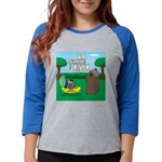 Outhouse or Phone Booth Womens Baseball Tee