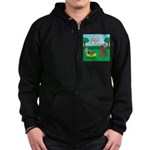 Outhouse or Phone Booth Zip Hoodie (dark)