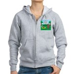 Outhouse or Phone Booth Women's Zip Hoodie