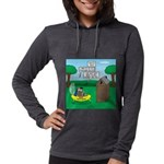 Outhouse or Phone Booth Womens Hooded Shirt