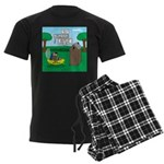 Outhouse or Phone Booth Men's Dark Pajamas
