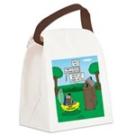 Outhouse or Phone Booth Canvas Lunch Bag