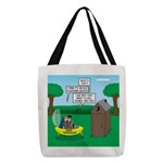 Outhouse or Phone Booth Polyester Tote Bag