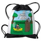 Outhouse or Phone Booth Drawstring Bag
