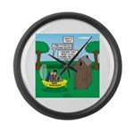 Outhouse or Phone Booth Large Wall Clock