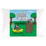 Outhouse or Phone Booth Pillow Case
