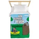 Outhouse or Phone Booth Twin Duvet Cover
