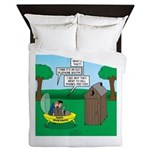 Outhouse or Phone Booth Queen Duvet