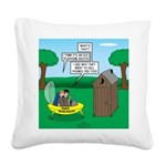Outhouse or Phone Booth Square Canvas Pillow