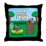 Outhouse or Phone Booth Throw Pillow