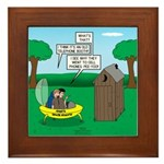 Outhouse or Phone Booth Framed Tile