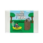 Outhouse or Phone Booth Rectangle Magnet (10 pack)