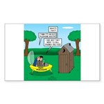 Outhouse or Phone Booth Sticker (Rectangle)