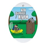 Outhouse or Phone Booth Oval Ornament