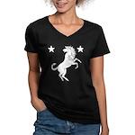 Meridies Populace Badge Women's V-Neck Dark T-Shir