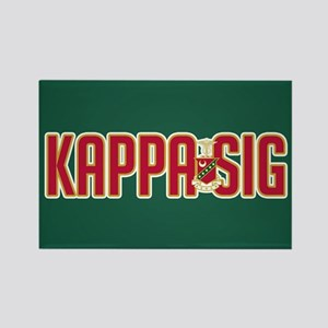 Kappa Sig Rectangle Magnet