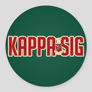 Kappa Sig Round Car Magnet