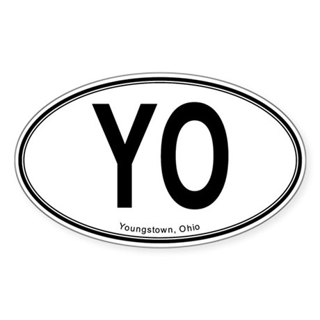 "Youngstown ""YO"" Sticker (Oval)"