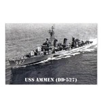 USS AMMEN Postcards (Package of 8)